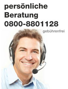 Professionelle Beratung unter Tel. 0800-8801128 (gebührenfrei)